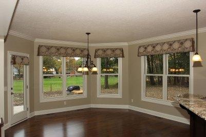 13-Angled Breakfast room with maple hardwood floors