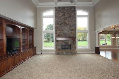 3-Floor to ceiling fireplace with Eldorado Hillstone Verona stone