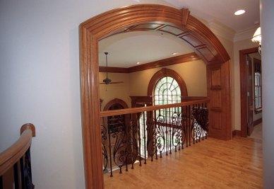 15-Paneled overlook from 2nd floor to Great room below