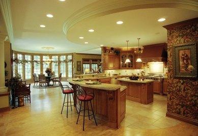 7-Round soffit with crown defines kitchen