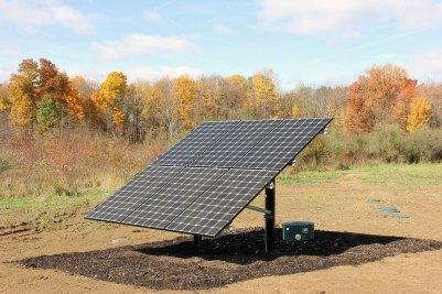 15-Solar panels power an irrigation system