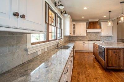 8-Dove White kitchen cabinetry with Quartzite Allure countertops